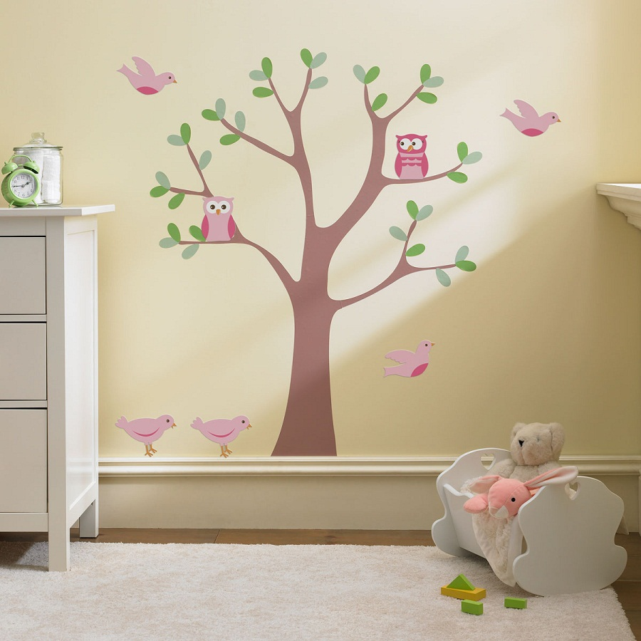 decorar con murales de vinilo el cuarto del beb baby