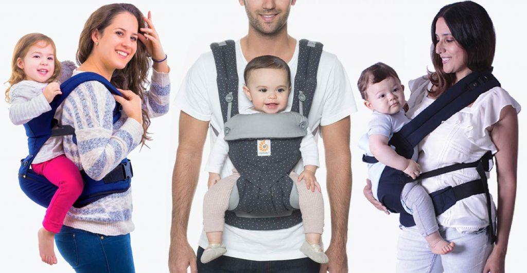 mochila portabebés múltiples posiciones y modelos