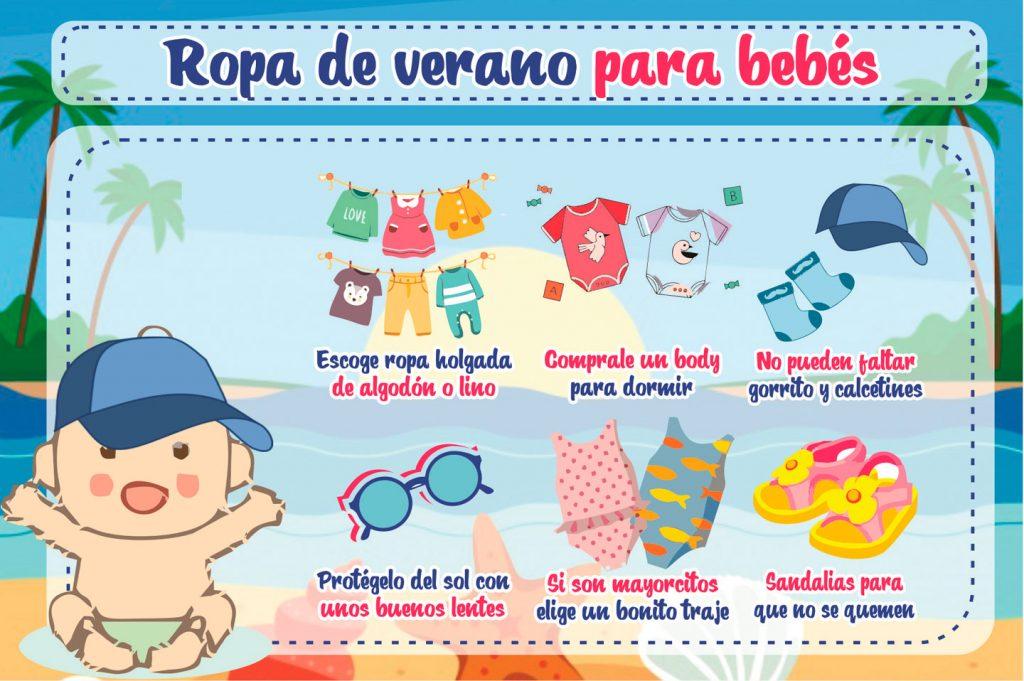 Ropa de Verano para bebé - infografía
