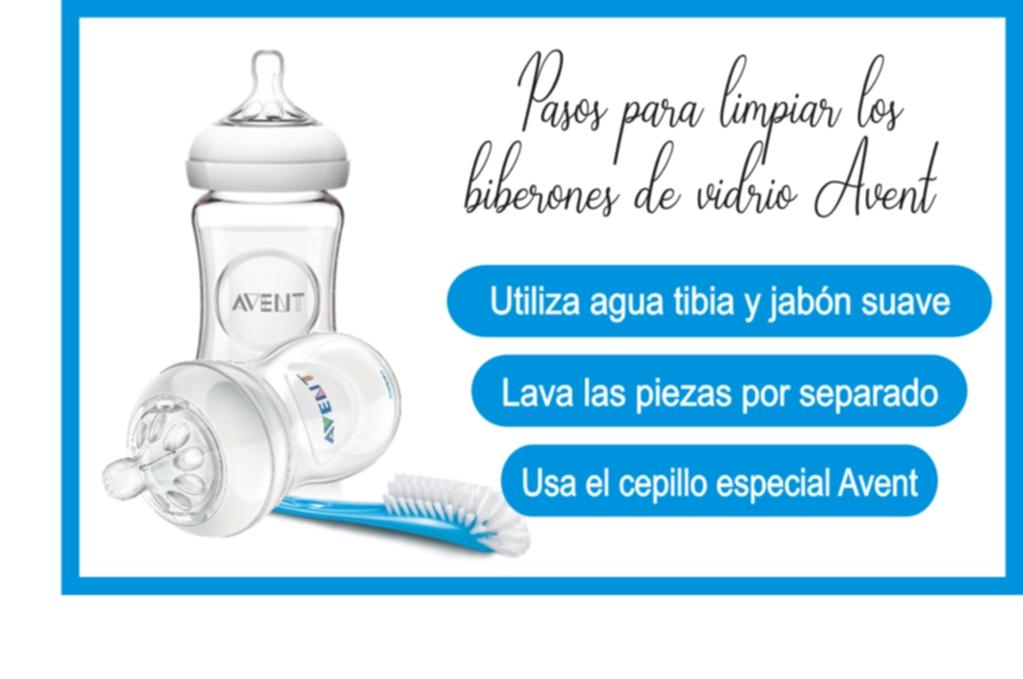 Tips para lavar los botellas de vidrio Avent