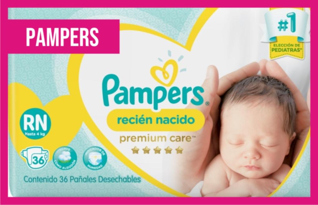 pañales de recién nacido pampers