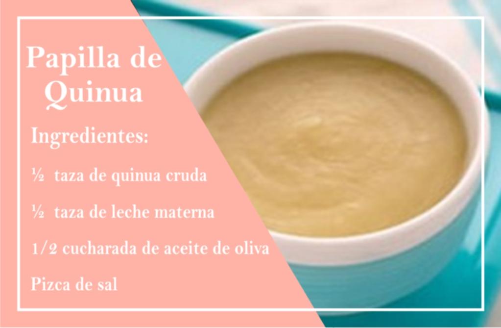 El puré de Quinua es una de las recetas para bebés típica de Perú