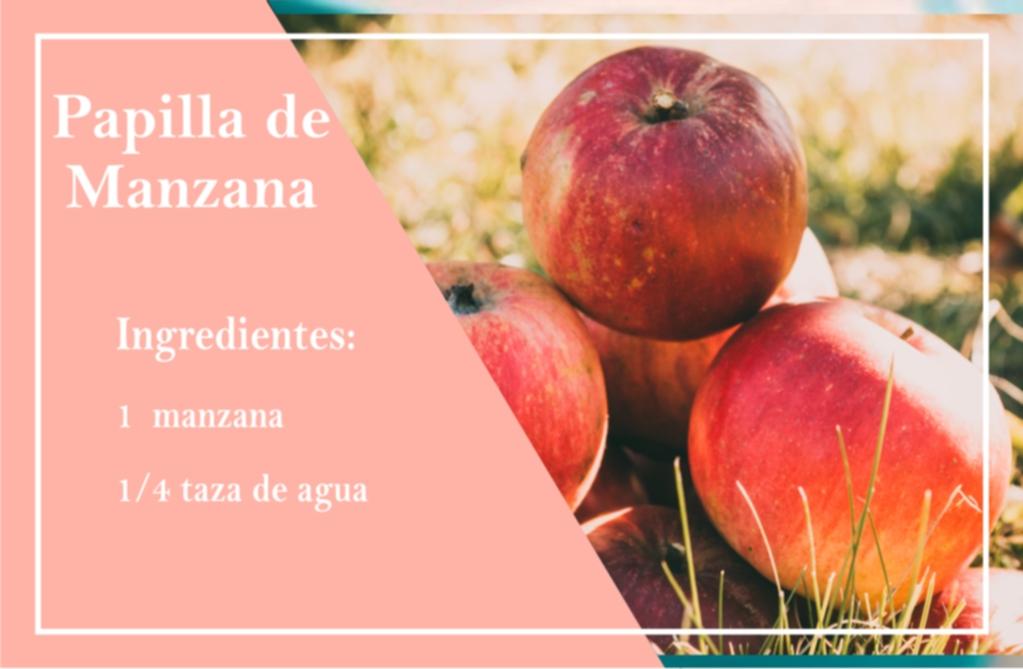 Recetas para bebés de 6 meses - Alimentación para bebés - puré de manzana
