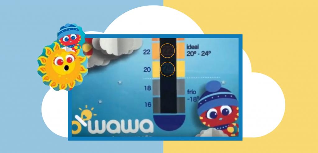 owawa termómetro de temperatura ambiental