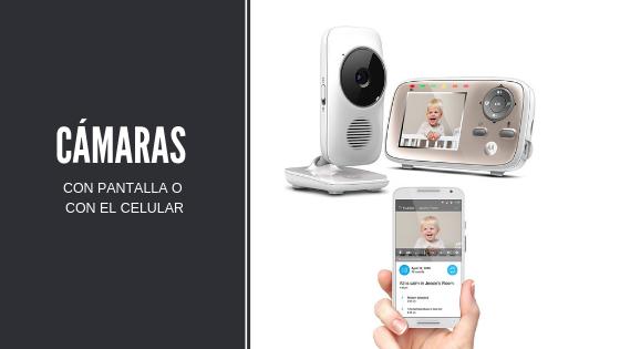 cámara para vigilar bebés con pantalla o celular