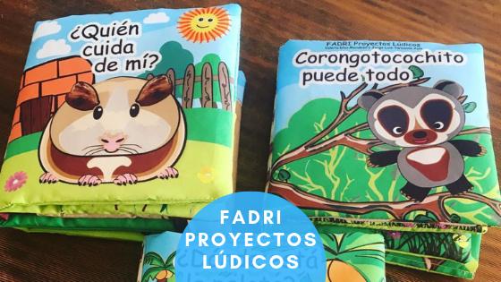 Libros sensoriales para bebés Fadri Proyectos Lúdicos