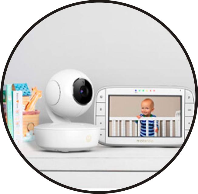 monitor para bebé de tamaño compacto