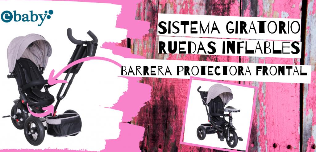 Coche triciclo para bebé