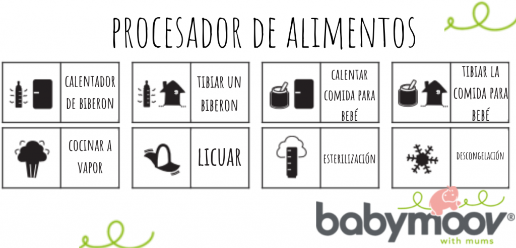 procesador de alimentos de nutribaby babymoov