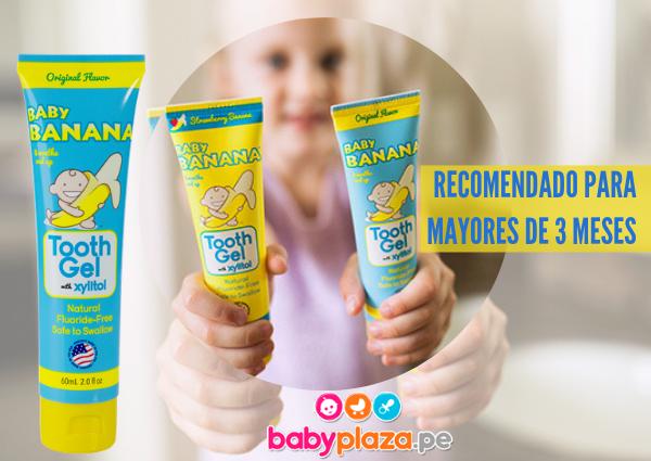 higiene bucal en bebés con baby banana