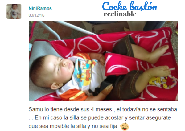 coche bastón para bebé