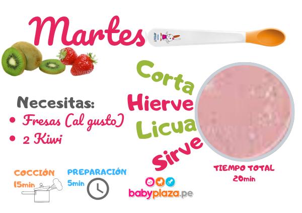 papilla de frutas y comidas para bebes