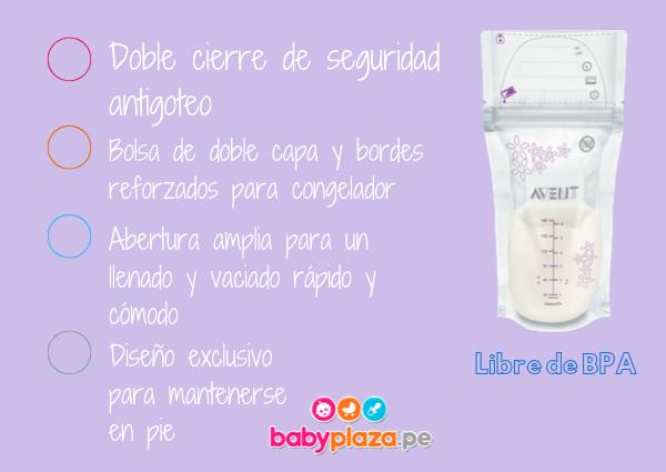 almacenamiento de leche materna