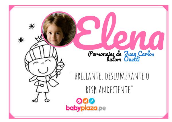 Elena, nombres para bebés