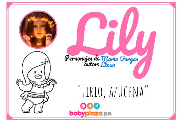 Lily, nombres para bebés