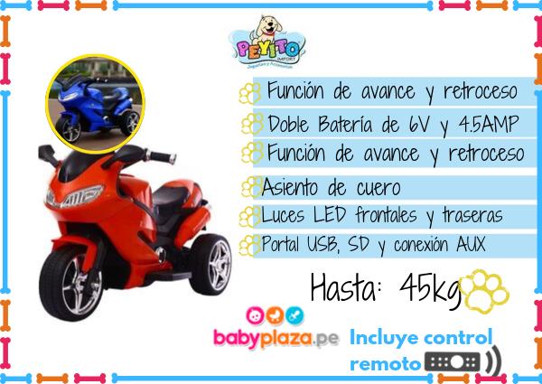 motos a batería para niños