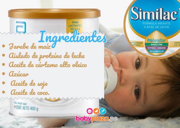 fórmula para bebés de 0 a 6 similac 1 pro sensitive