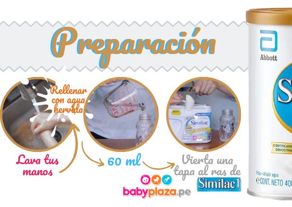 formula para bebés preparacion leche de inicio