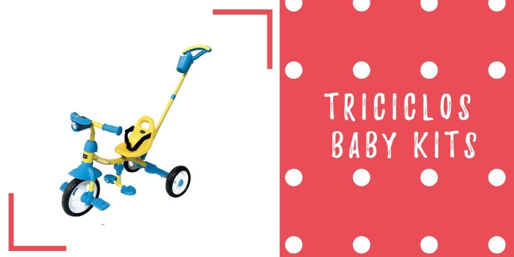 triciclo baby kits amarillo azul - triciclos para niños