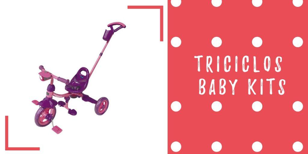 triciclo baby kits morado rosado