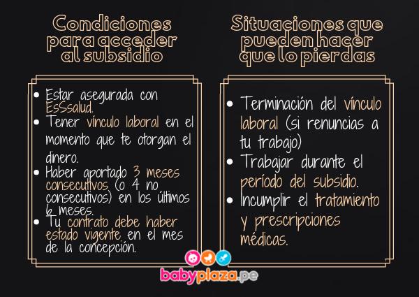 licencia de maternidad Perú