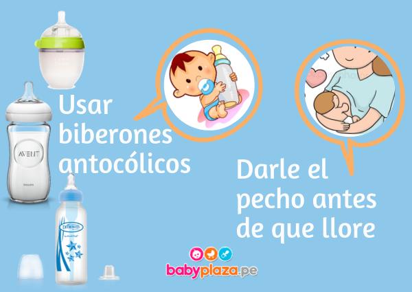 gases en el lactante y biberones anticolicos
