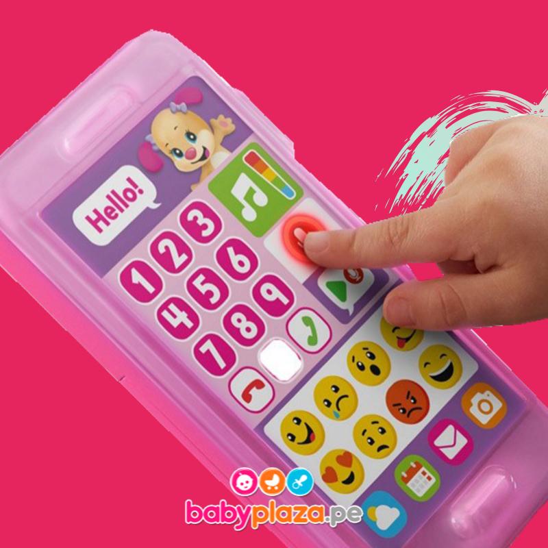 teléfono para bebés y laptop de juguete