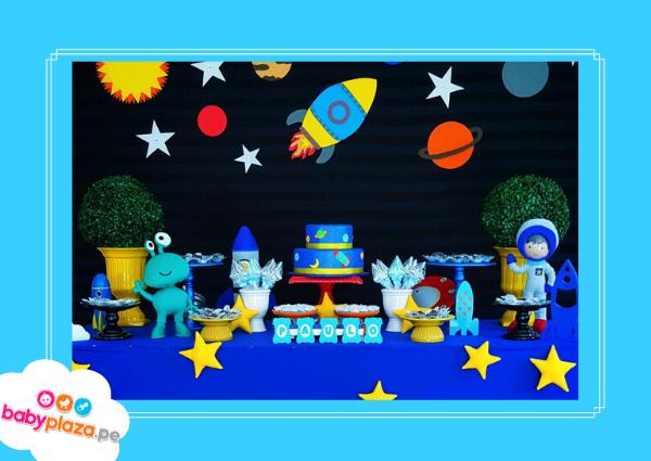 baby shower de astronauta