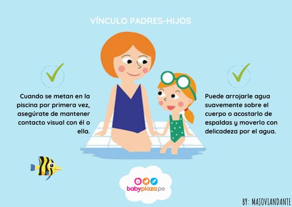 Cómo enseñar a nadar a un bebe