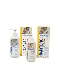 PACK BABYTOPIC Pediatrics  x120ml + BODYMILK Pediatrics x 50ml (en estuche) - Mediscience