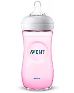 Philips Avent - Biberón Natural 2.0 Rosa para Bebés de 330ml / 11oz