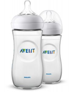 Philips Avent - Pack 2 Biberones Natural 2.0 para Bebés de 330ml / 11oz