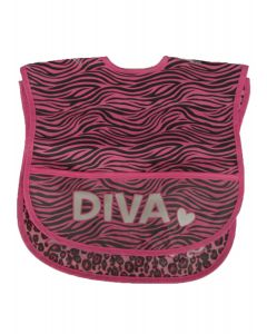 Set 2 Baberos  Rosa Diva. - Baby Essentials