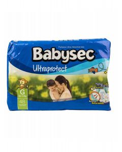Pañales Babysec Ultraprotect G Paquete 48 Unid.