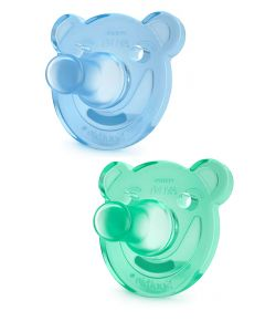 Avent - Pack 2 Chupones Soothie Azul Verde 3m+