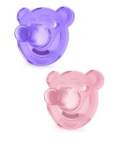 Avent - Pack 2 Chupones Soothie Rosa Lila 0-3m