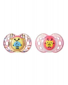 Chupones Fun Style 6-18M Rosado x 2 unidades-Tommee Tippee