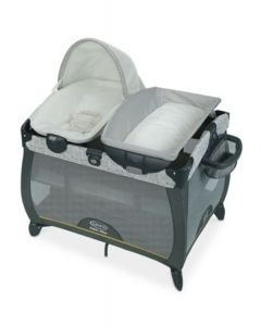 Graco - Cuna Corral Pack and Play + moisés y cambiador Quick Connect Portable Napper Teddy