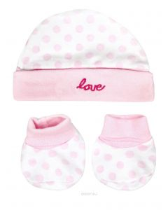 Set Babuchas con Gorrito Rosa Puntos - Luvable Friends