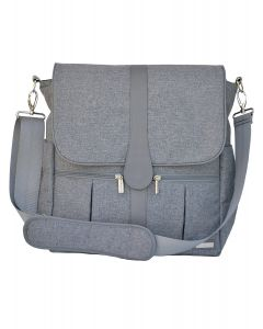 Mochila Pañalera Back Pack Gray Heathered - JJ Cole