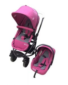 Baby Kits - Coche Travel Prima Plus Rosado