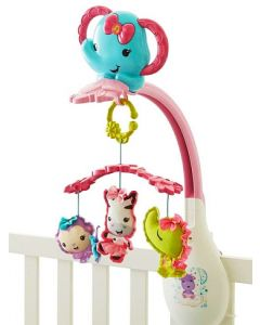 Fisher Price - Movil Elefante Musical Rosa