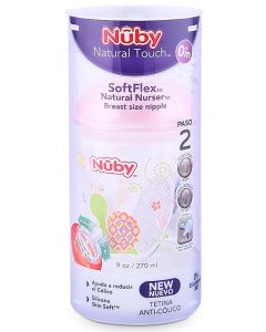 Biberón Natural Touch 0m+ 270ml / 9oz Rosa - Nuby