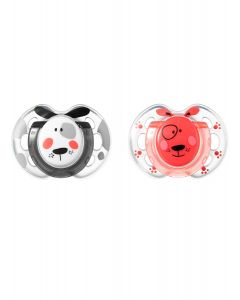 Chupones Fun Style 0-6M Perro x 2 unidades-Tommee Tippee