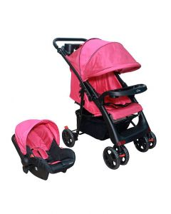 C-19+W3 Travel System Spine Pink