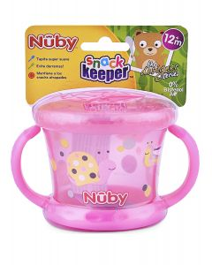 Nuby Snack Keeper Decorado Rosado