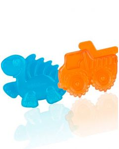 Nuby - Mordedor pack kool soother carro-dinosaurio