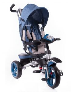 Triciclo Reclinable Giratorio Maks New Azul