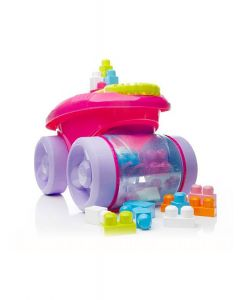Fisher Price - Vagón recoge Bloque Fucsia